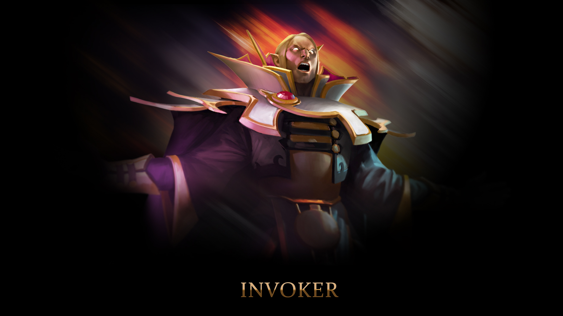 invoker dota 2 by yonggfx fan art wallpaper games 2012 2015 yonggfx 1900x1068