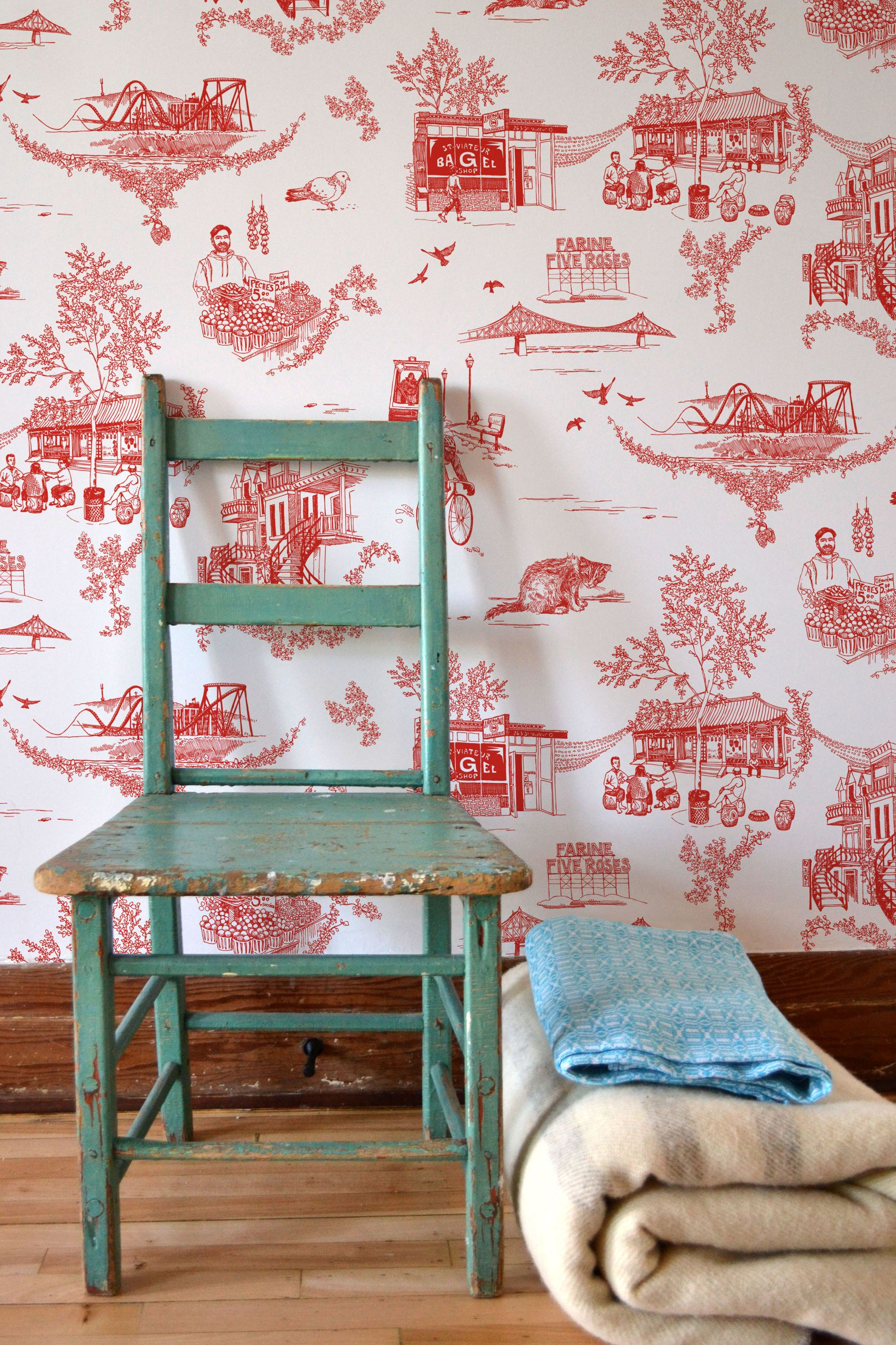 Silk screened wallpaper on non woven unpasted quality paper 1706x2560