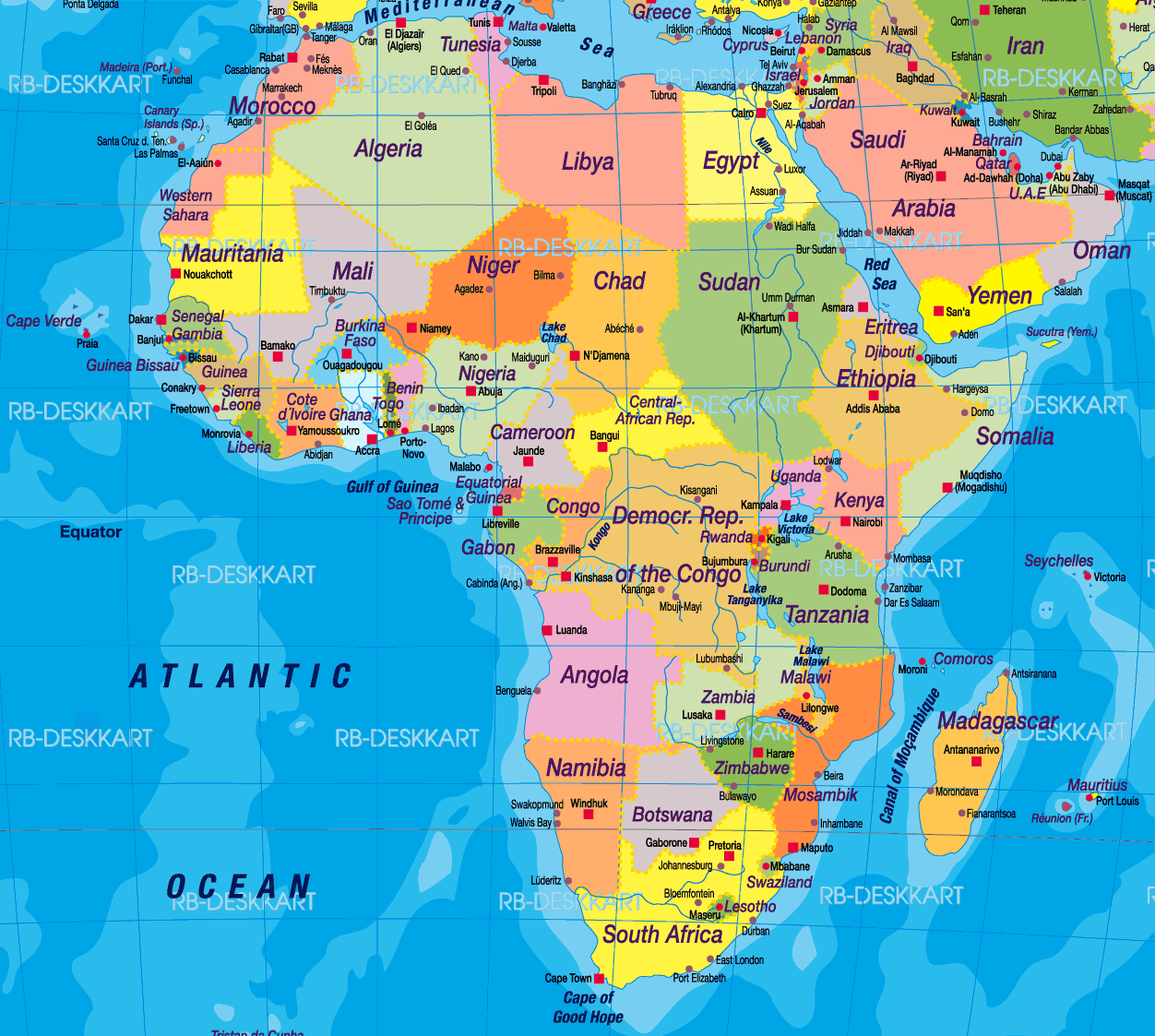 Africa Map Wallpapers 1252x1123