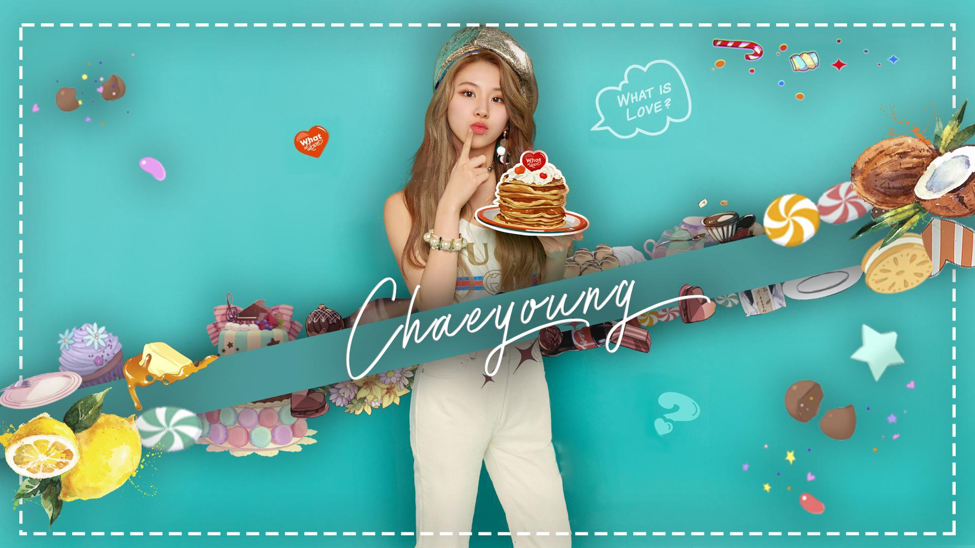 Chaeyoung Wallpaper What is Love Theme twice 1920x1080