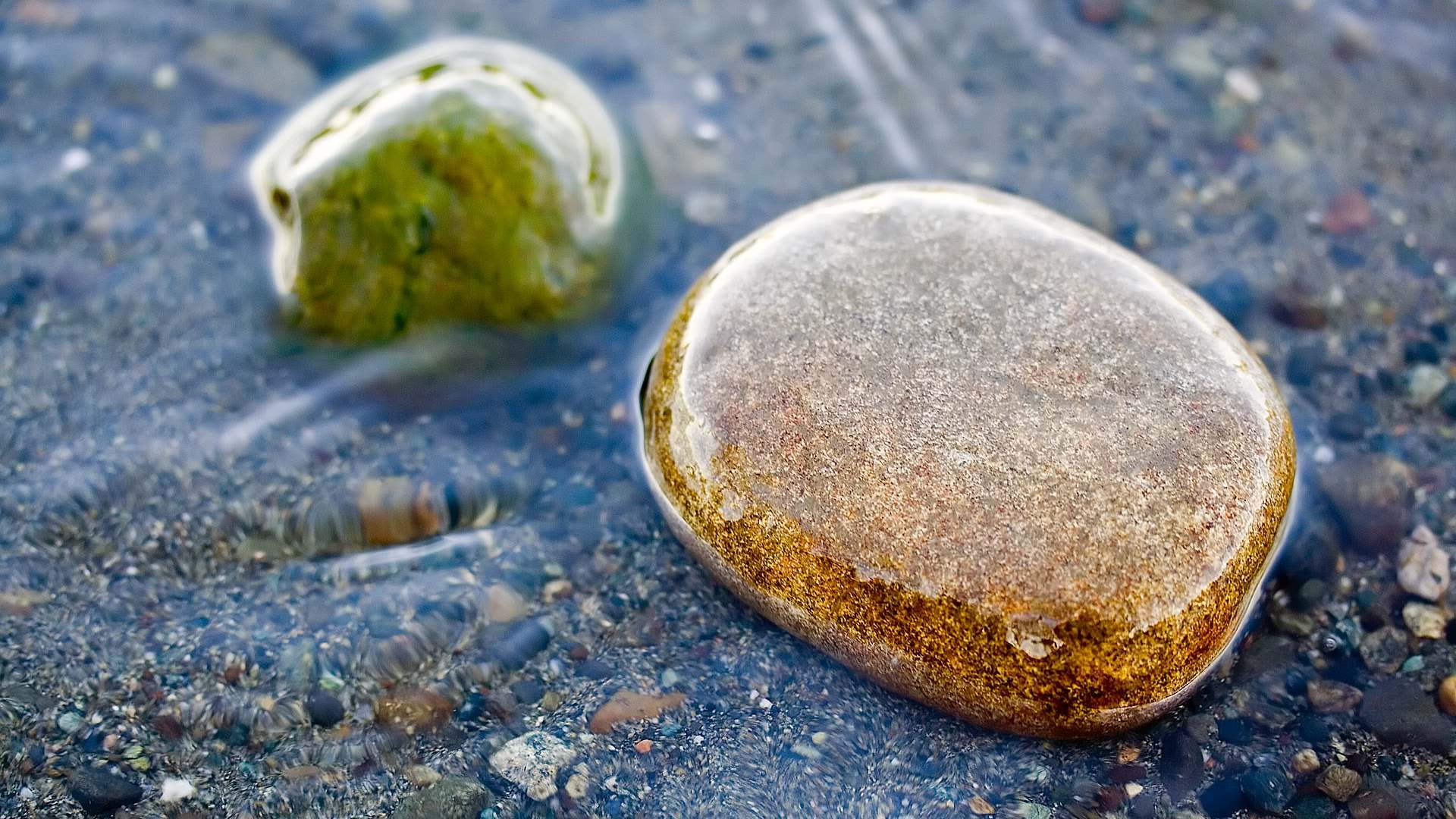 Smoothed River Rocks 1920x1080 HD Image Photography Nature 1920x1080