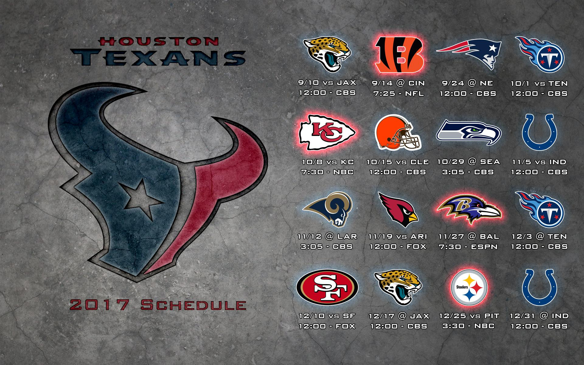 Schedule wallpaper Texans 1920x1200