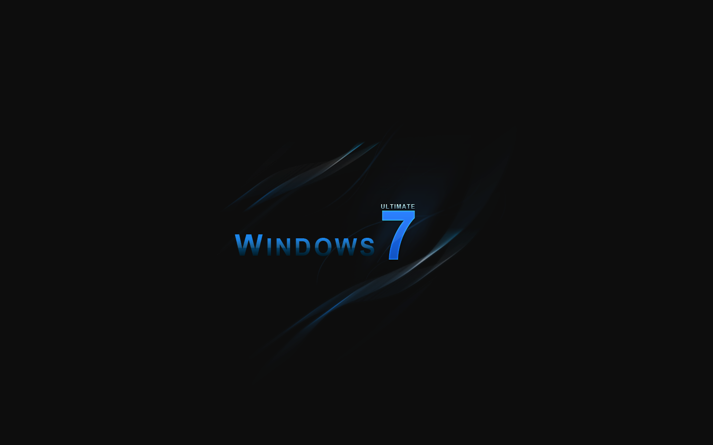 Windows 7 Black Wallpapers 1440x900