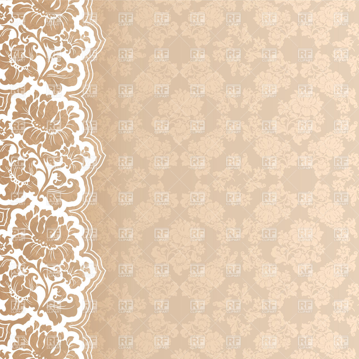 Floral victorian wallpaper with lace border Royalty 1200x1200