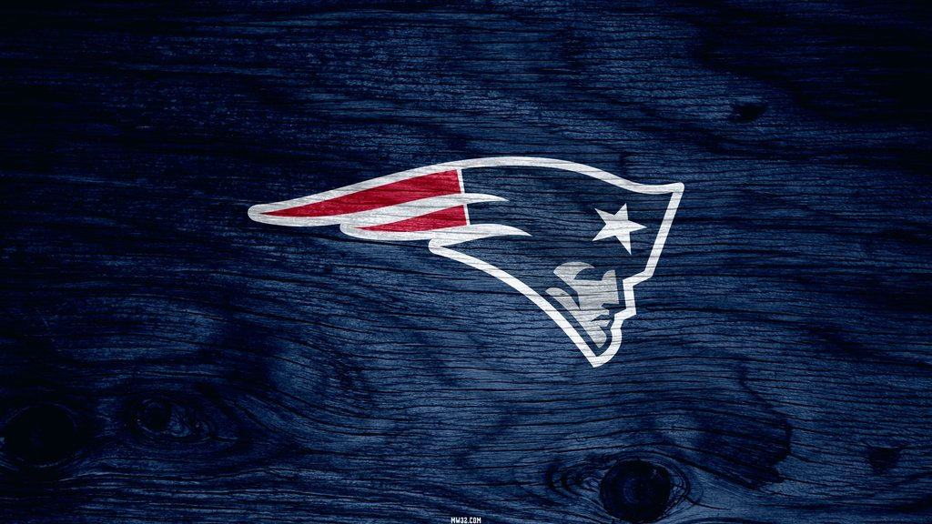 New England Patriots Blue Weathered Wood Wallpaper for Phones and 1024x576
