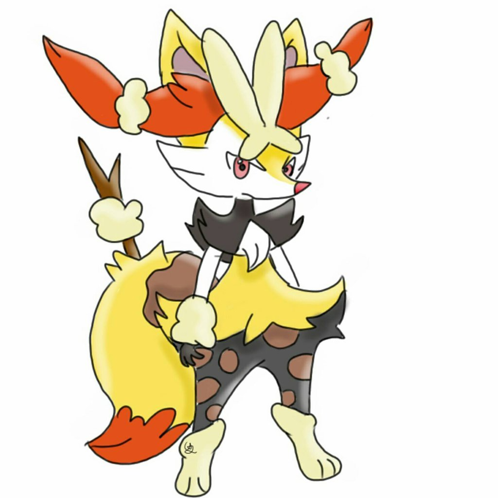 Braixen and Mega Loppuny Fusion by Grenplayspokemon on 1024x1023