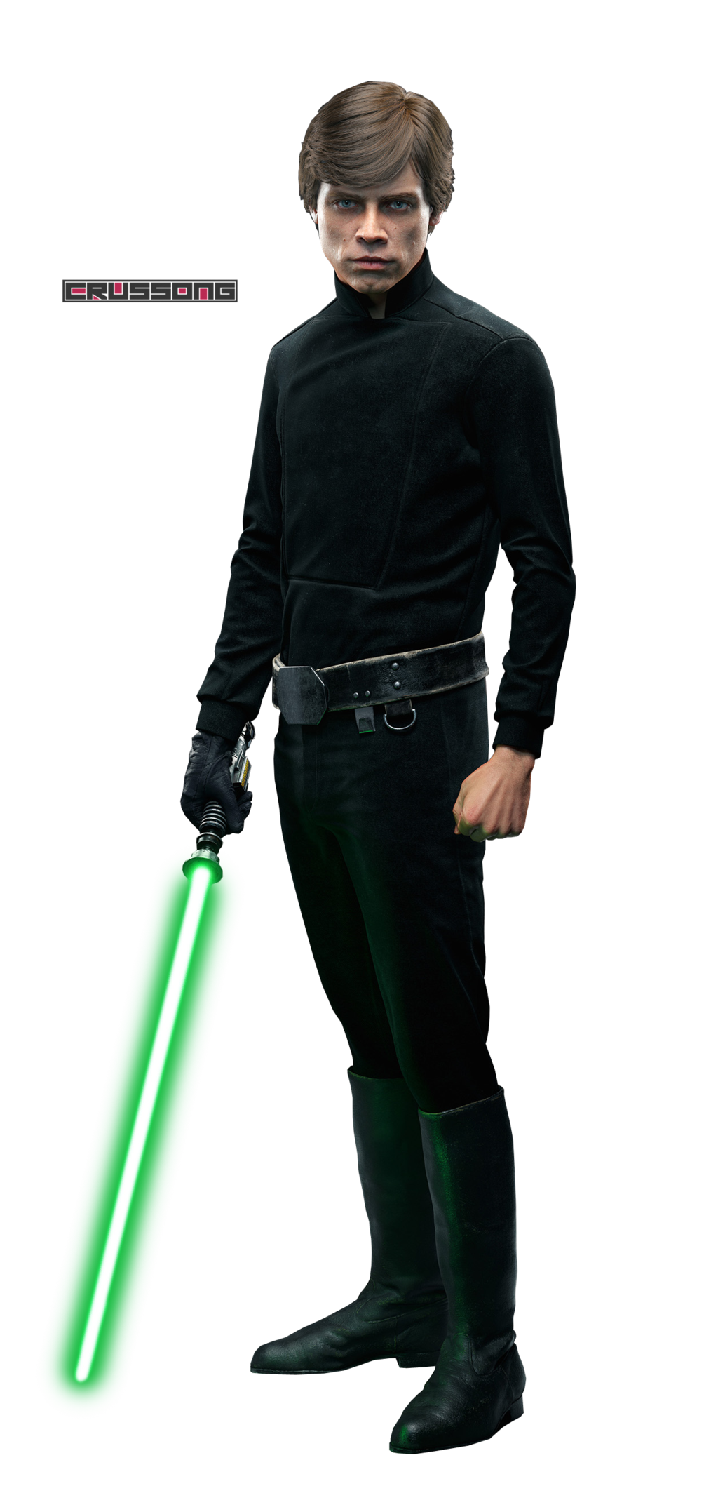 Luke Skywalker   Star Wars Battlefront Render by Crussong on 1024x2128