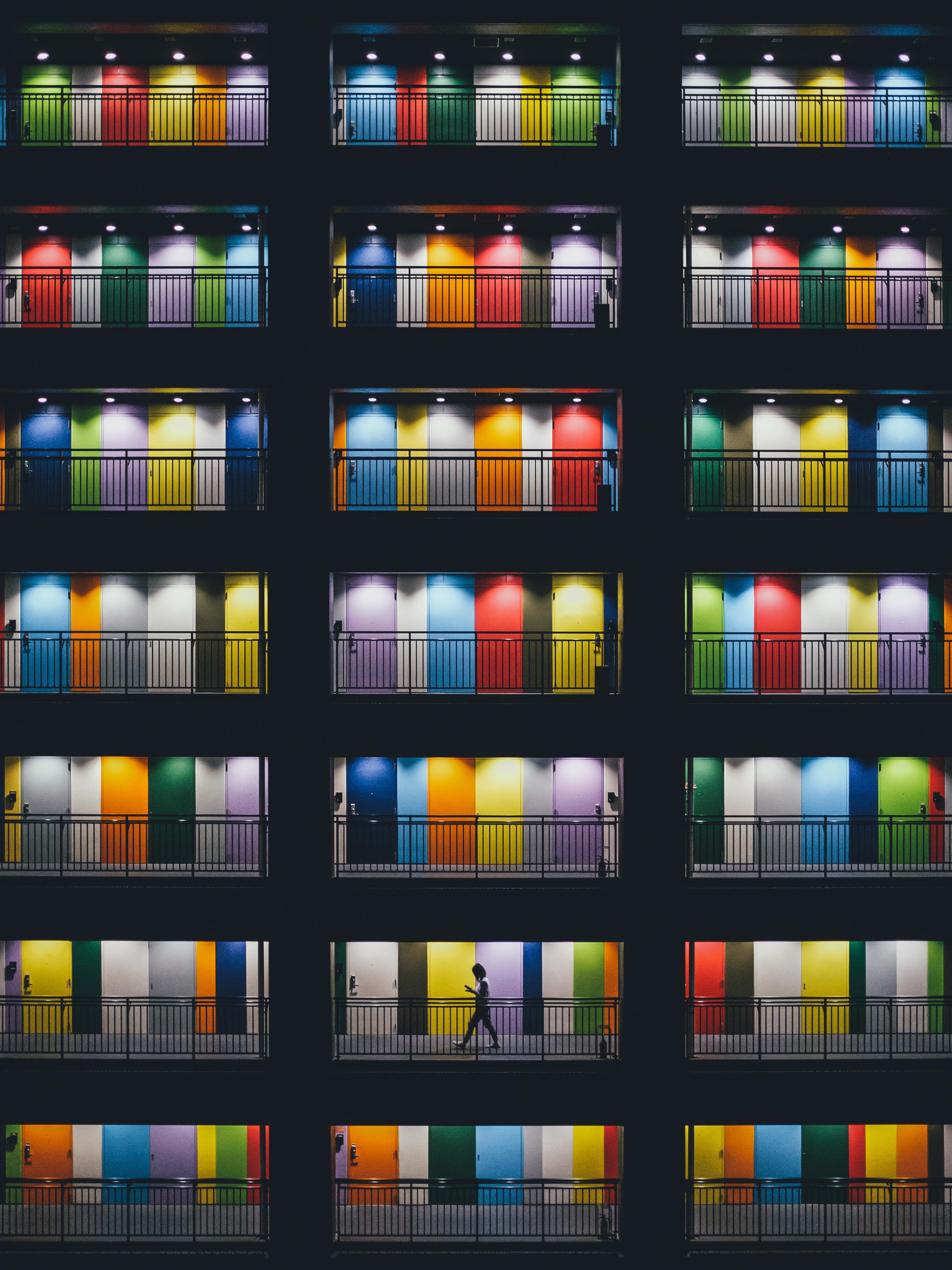 These colorful doors in Odaiba island Tokyo Trending Ipad pro 4096x5464