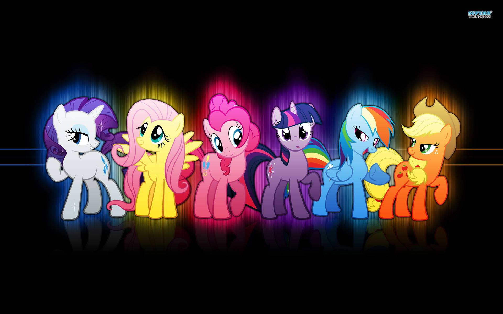 Neon Wallpaper Cool neon wallpaper with the main ponies 1920x1200