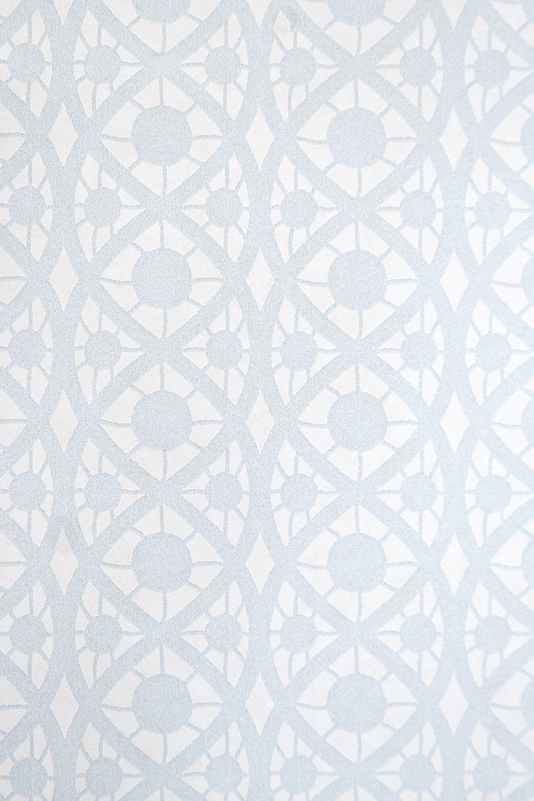 Lace Wallpaper Small design white wallpaper with Pale Blue lace print 534x801