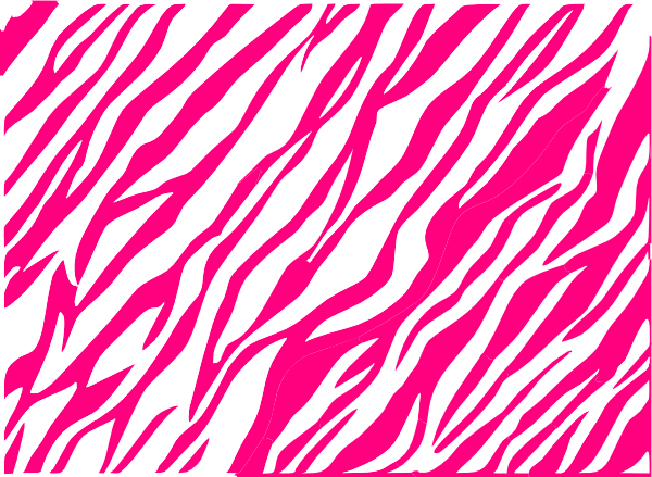 Pink And White Zebra Print Background Clip Art at Clkercom   vector 600x439