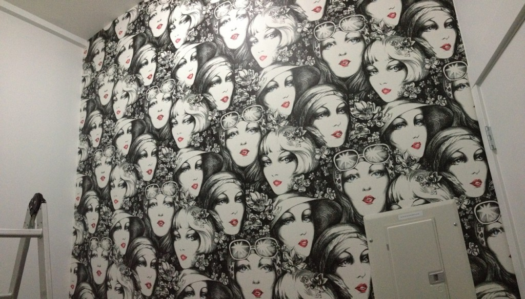 this wallpaper in Vancouver This is custom printed digital wallpaper 1024x584