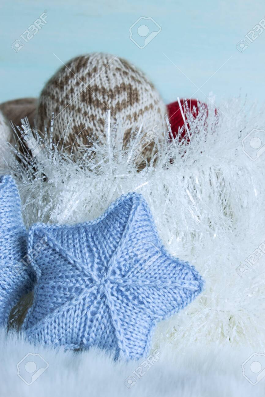 Christmas And New Year Theme Knitted Christmas Ornaments Soulful 866x1300