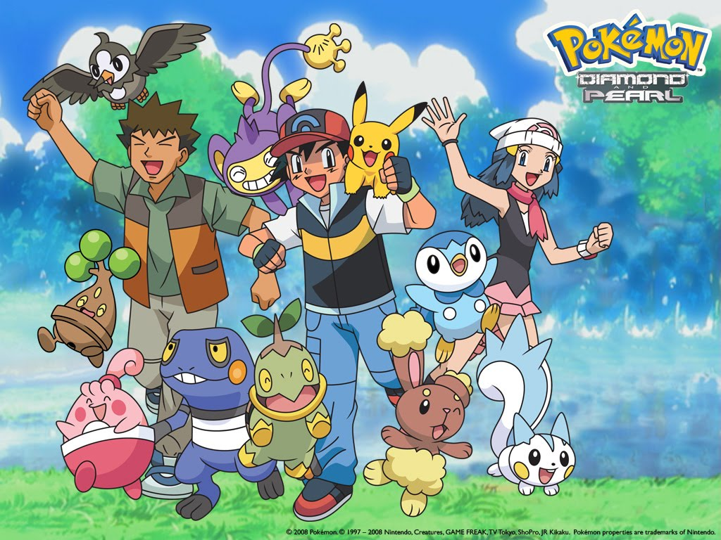 Free Download Pokemon Diamond And Pearl Wallpaper 1024x768