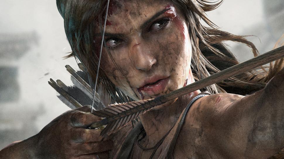 Free Download Tomb Raider Lara Croft Arrow Bow Face Brunette