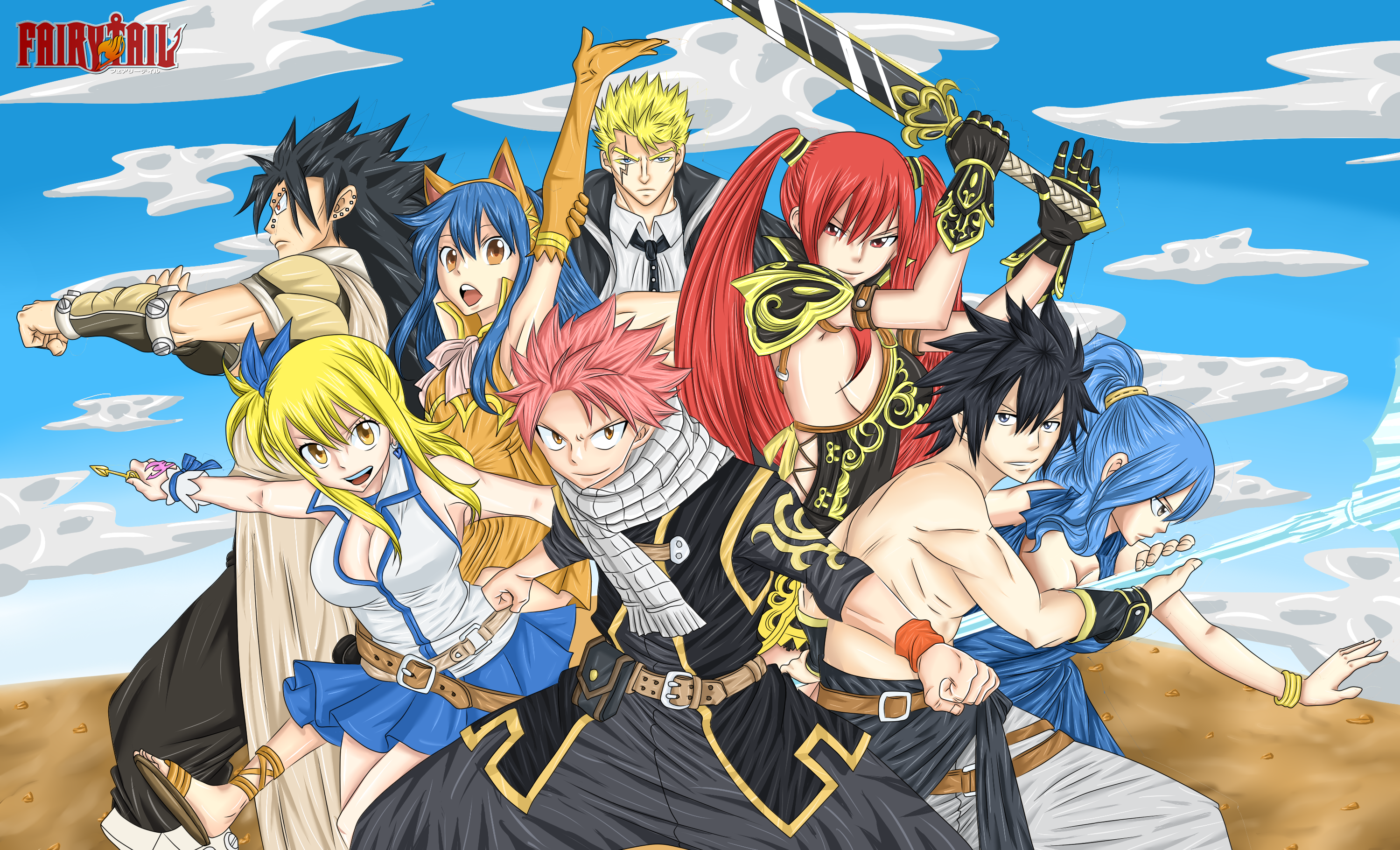 Best FT and Naruto Wallpapers Fairy Tail Base 3000x1821