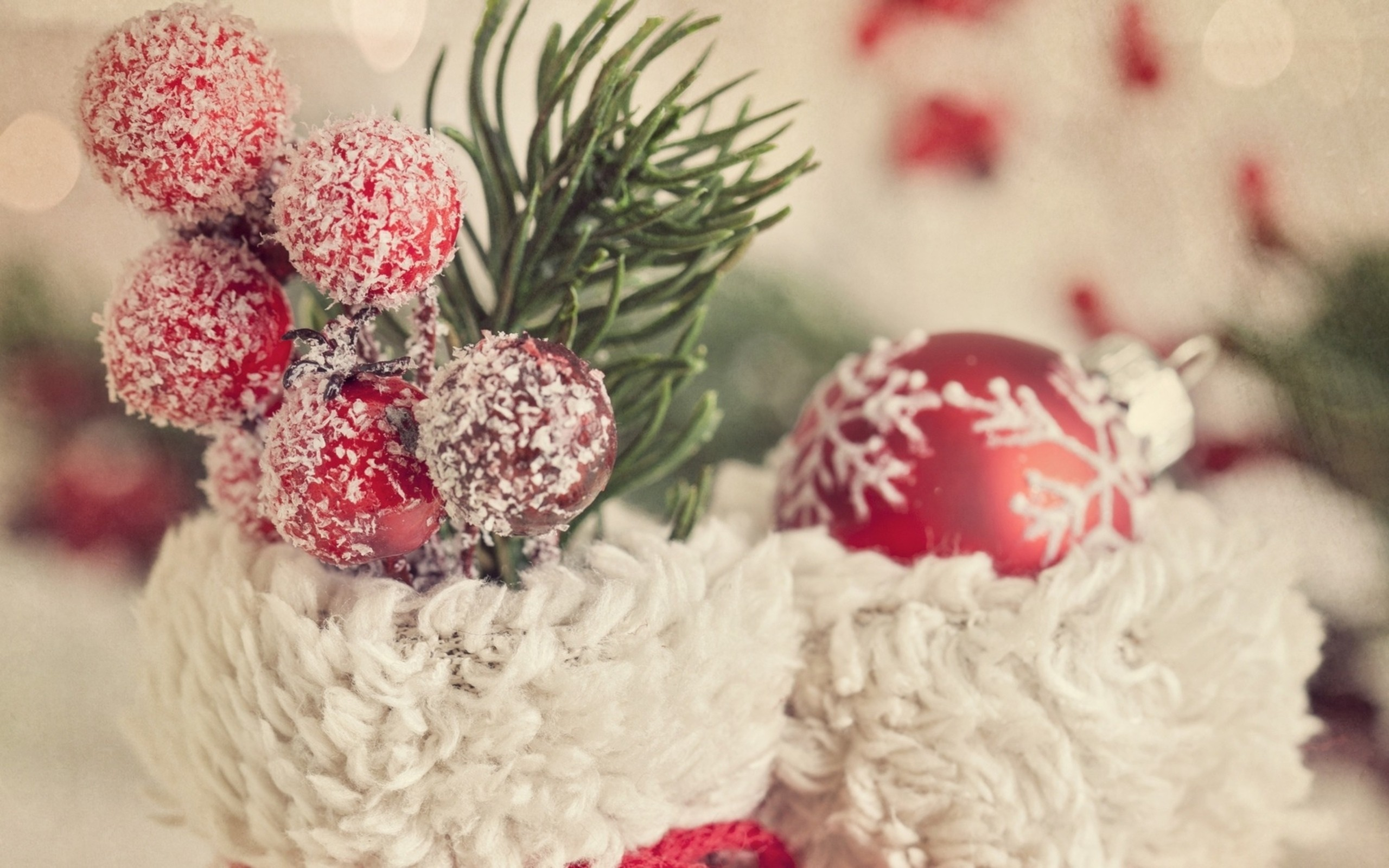 Christmas tree decorations from food wallpapers and images 2560x1600