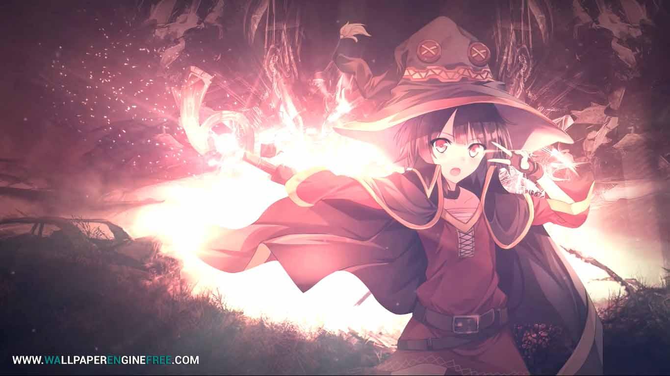 Megumin Anime Wallpaper Engine