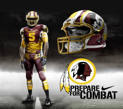 With A K Potential New Uniforms for the Washington Redskins 500x444
