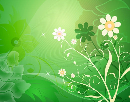 Name Vector Abstract Flower with Green Background 519x405