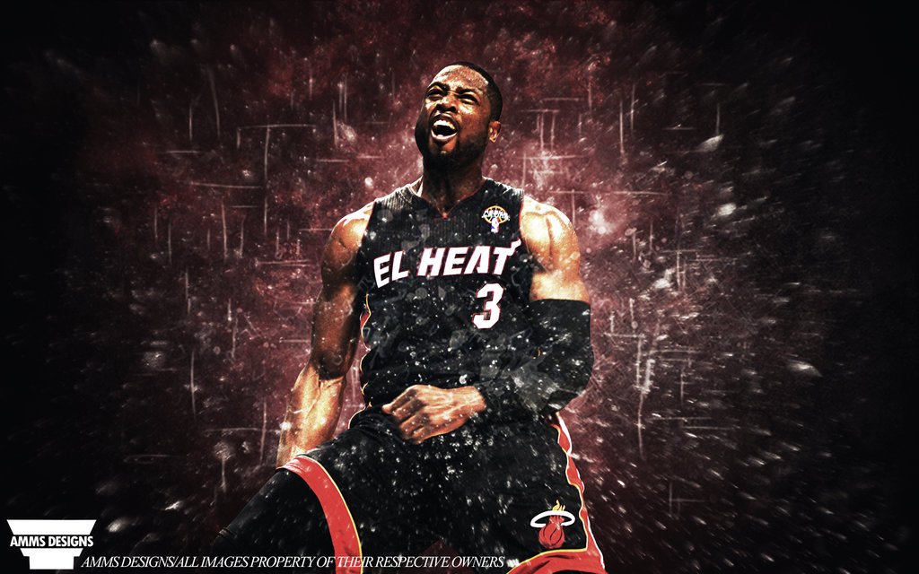 Dwyane Wade Explosion Poster by AMMSDesings 1024x640