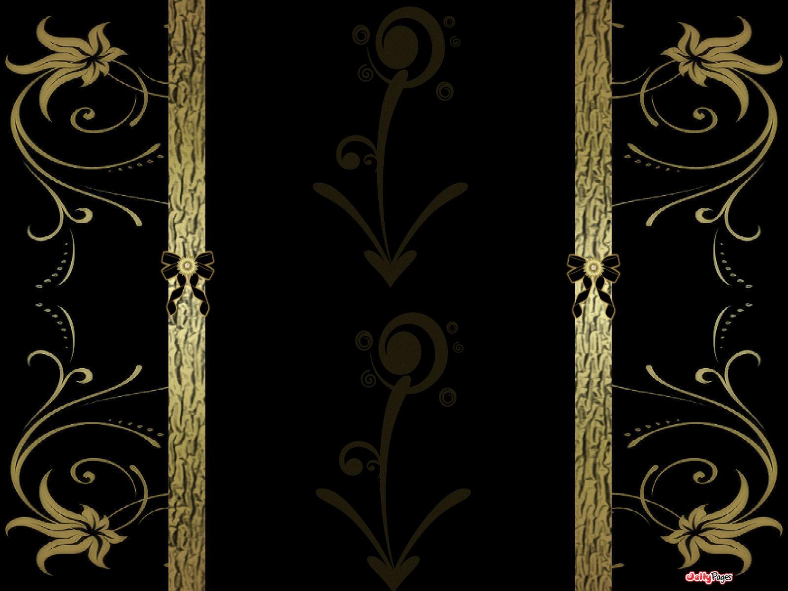Free Download Elegant Gold And Black Wallpaper 1600x1200