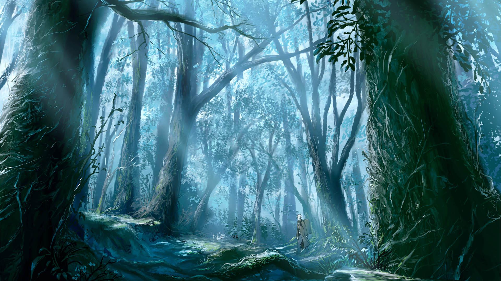 Download Anime Forest Wallpaper 1920x1080 Wallpoper 175083 1920x1080
