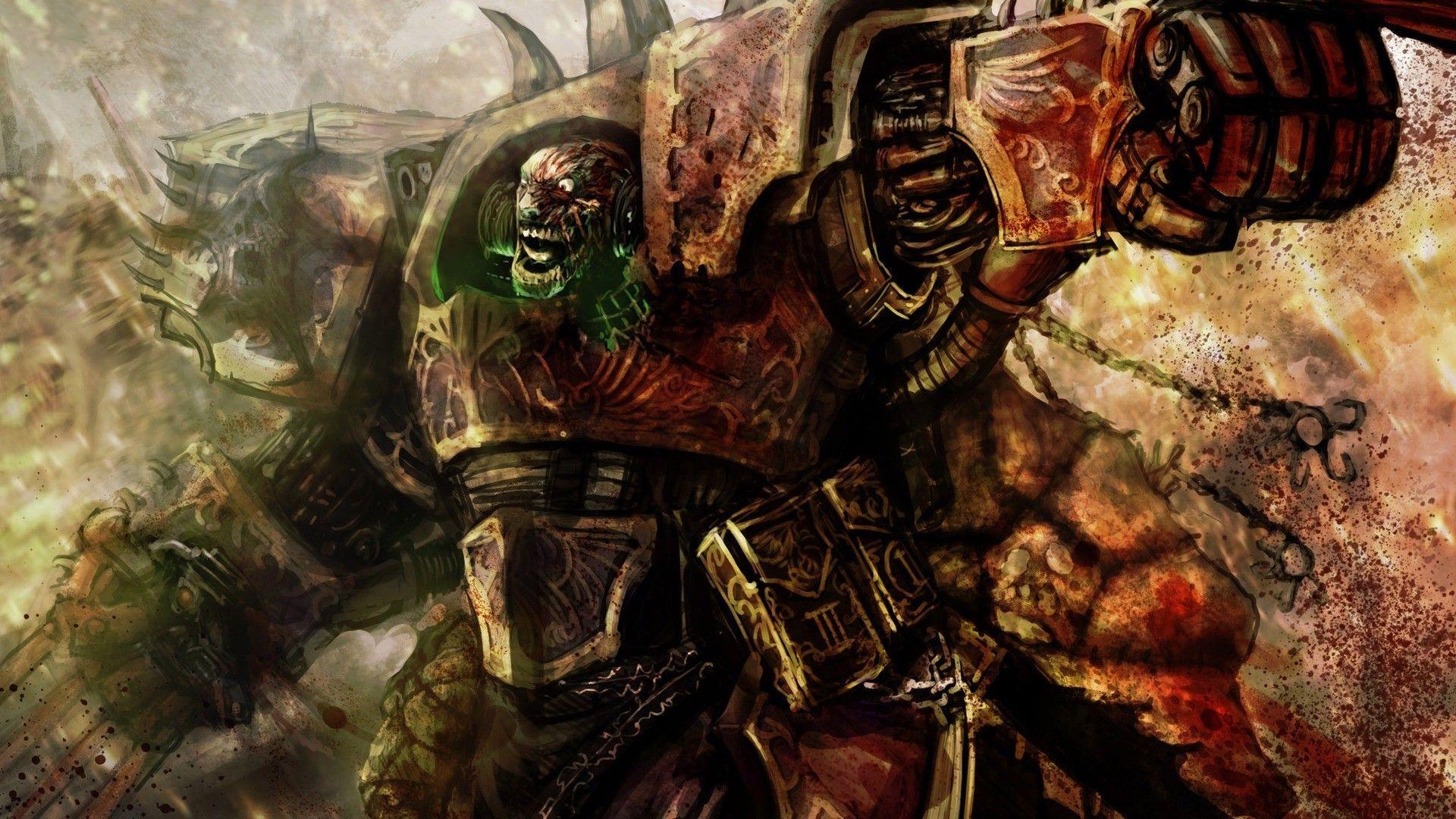 29 Warhammer Chaos Space Marine Logo Wallpaper On