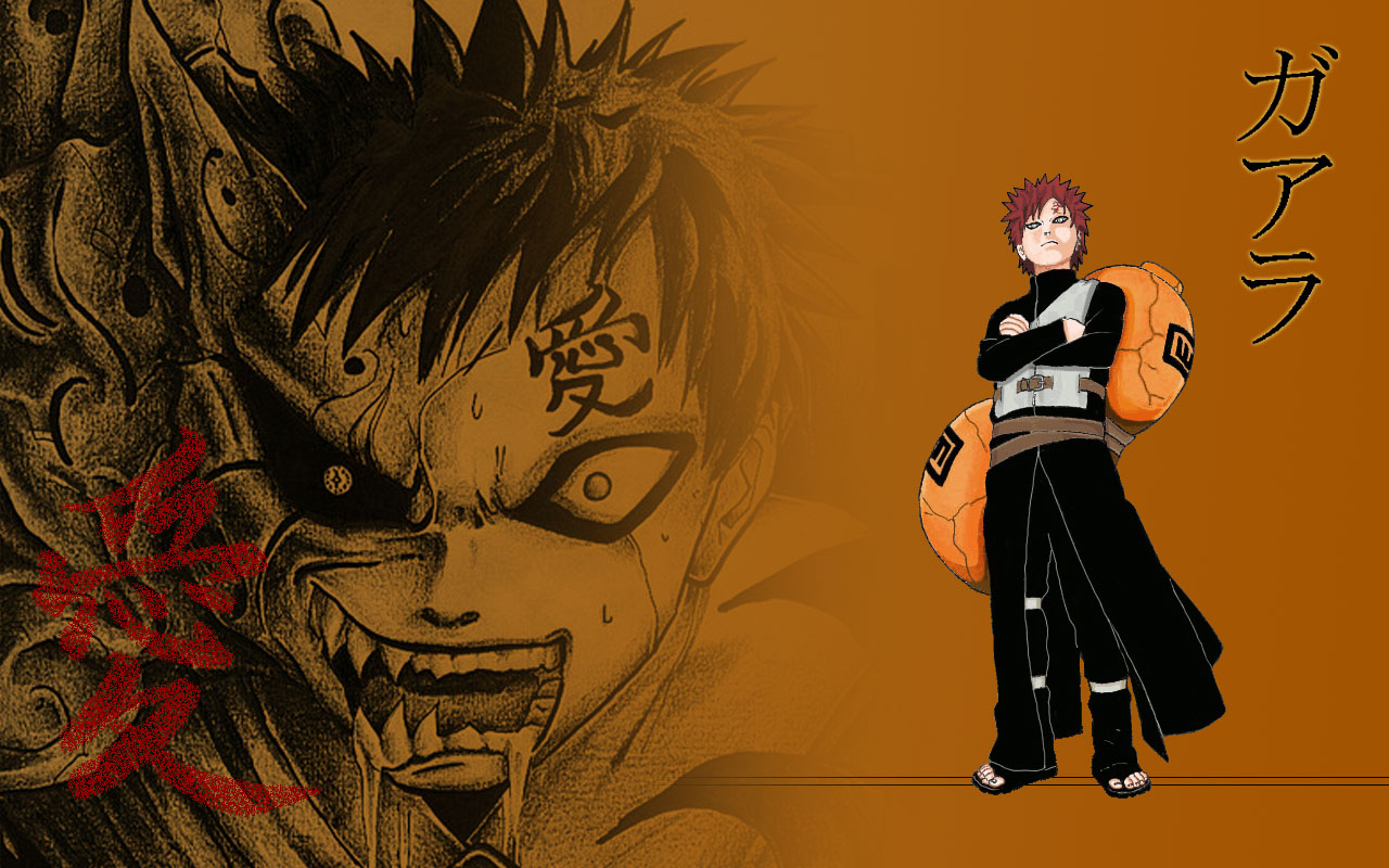 Gaara iPhone Wallpaper 1280x800