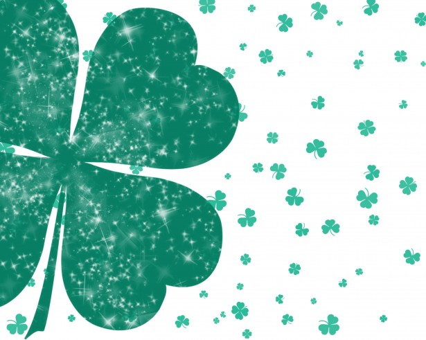 Four Leaf Clovers Background Stock Photo   Public Domain Pictures 615x491