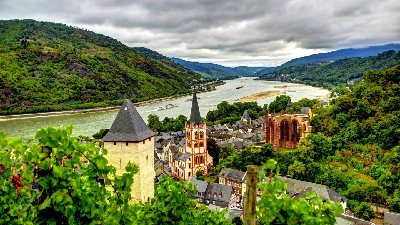 Bacharach Germany On The Rhine River Hdr Hd Wallpaper Wallpaper 1440x810
