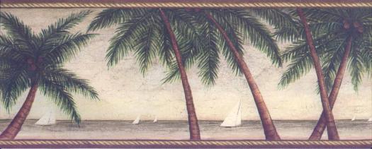 Palm Tree Wallpaper Border