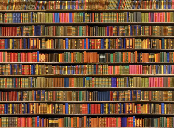 Bookshelf wallpaper wallpapersafari for Bookcase wallpaper mural