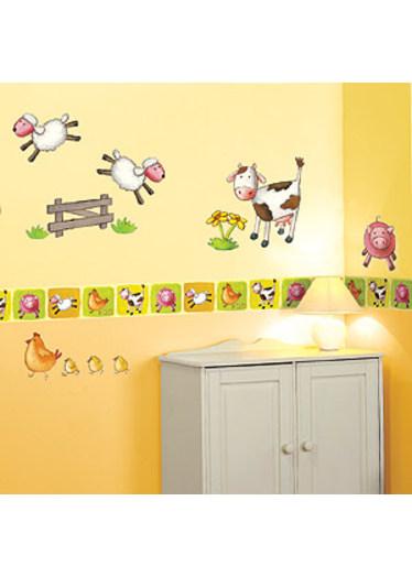 Childrens Rooms Farm Animal Farm Wallpaper Border 374x524