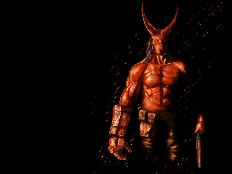 Hellboy 2019 Movie Artwork HD 4K Wallpaper 800x600
