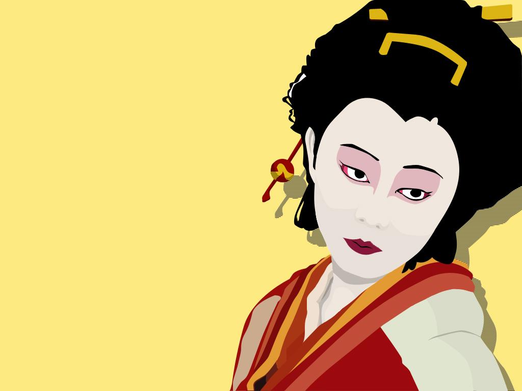 Japanese Geisha wallpaper 1024x768