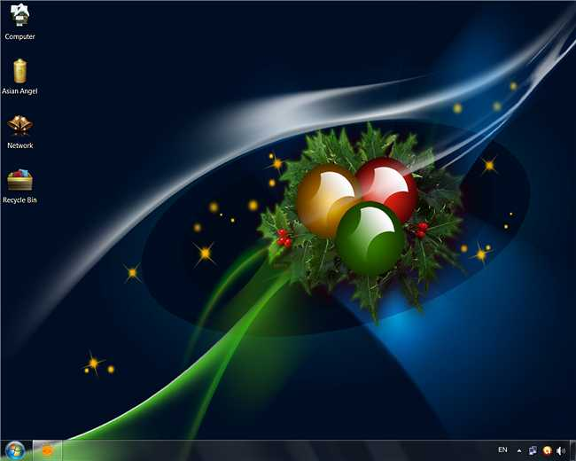 Add a Colorful Christmas Theme to Your Windows 7 Desktop 650x520