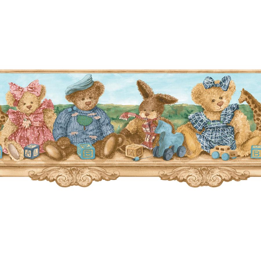 Jewel Tone Teddy Bears Shelf Prepasted Wallpaper Border at Lowescom 900x900