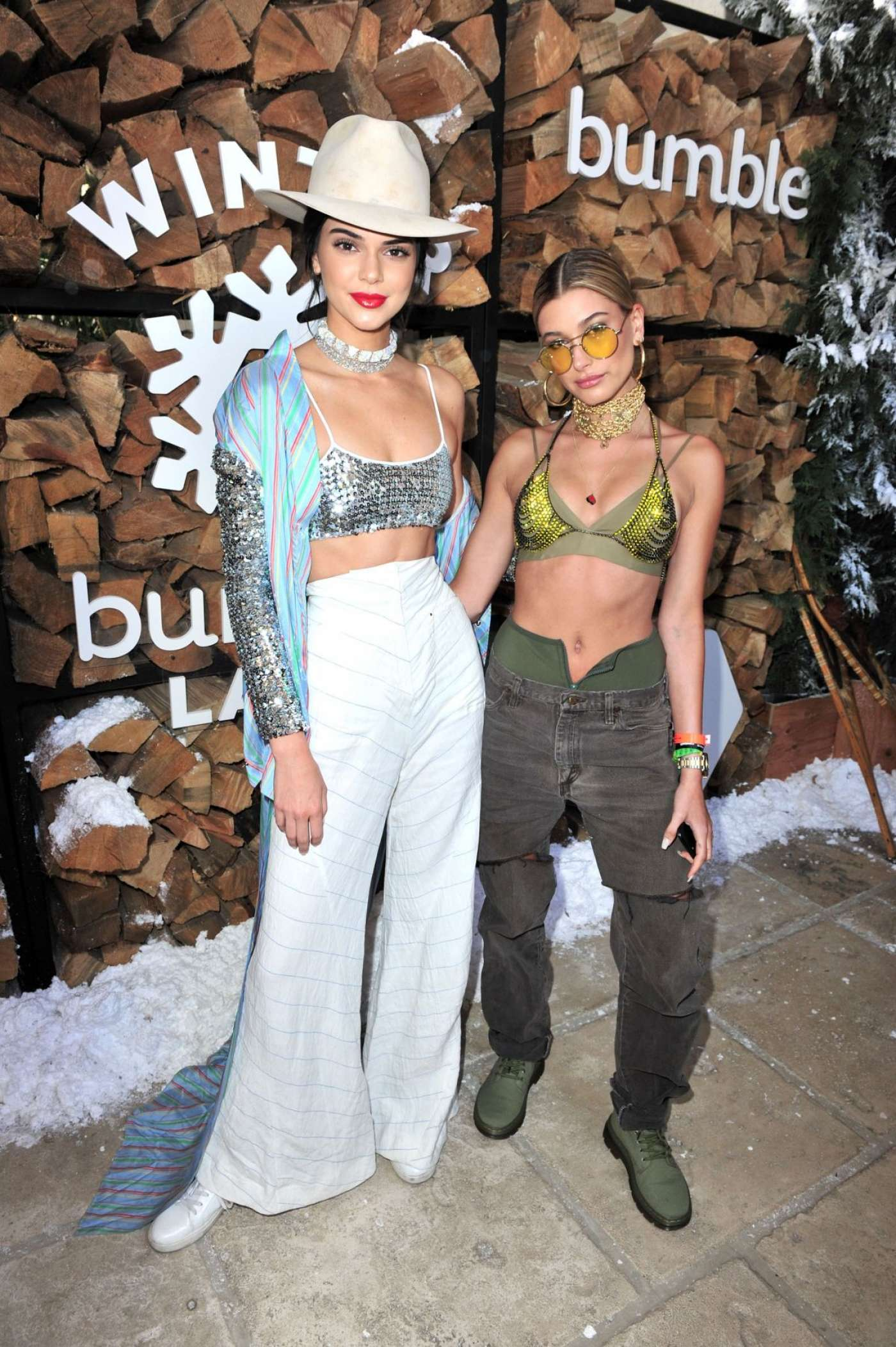 Kendall Jenner and Hailey Baldwin   Winter Bumberland 1400x2105