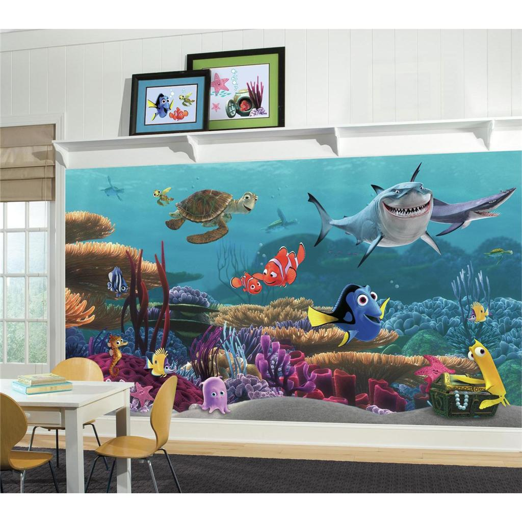 Nemo Wallpaper Mural Kids Room or Bathroom Prepasted Wall Decor eBay 1024x1024