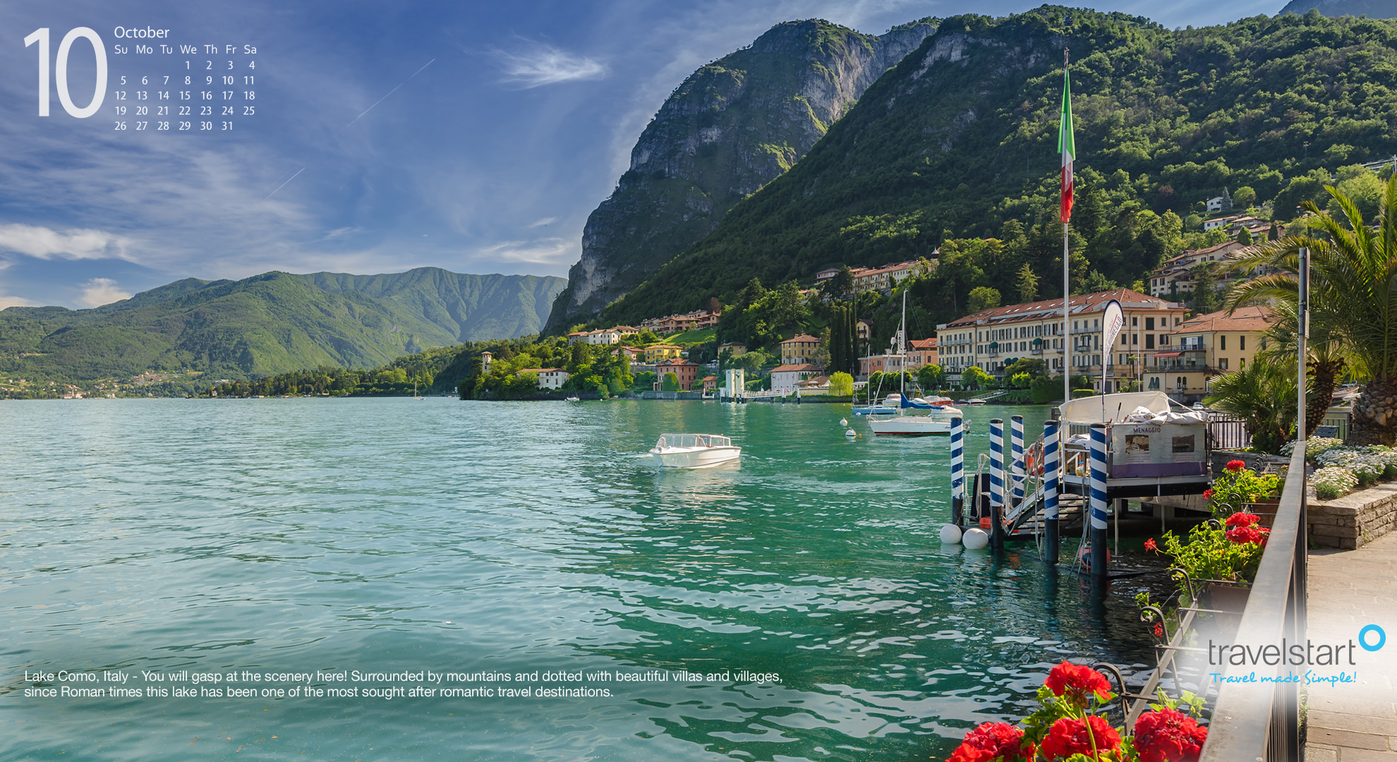 picture of Lake Como Italy for the October travel wallpaper 1980x1080