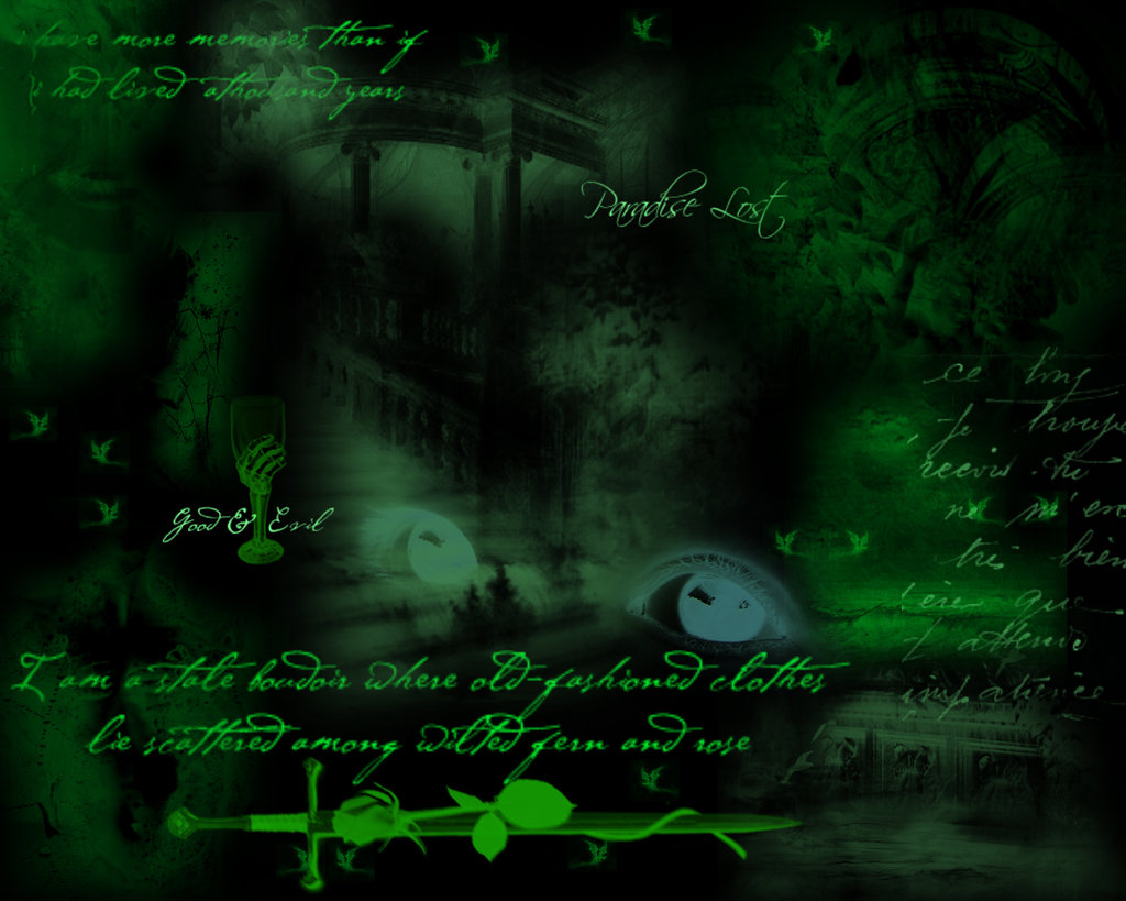 Green Gothic Dream Wallpapers Pictures Photos and Backgrounds 1024x819