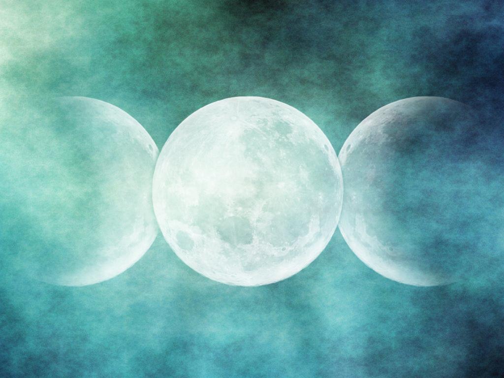 Wiccan Moon Goddess Wallpaper Triple moon by lulafay 1024x768