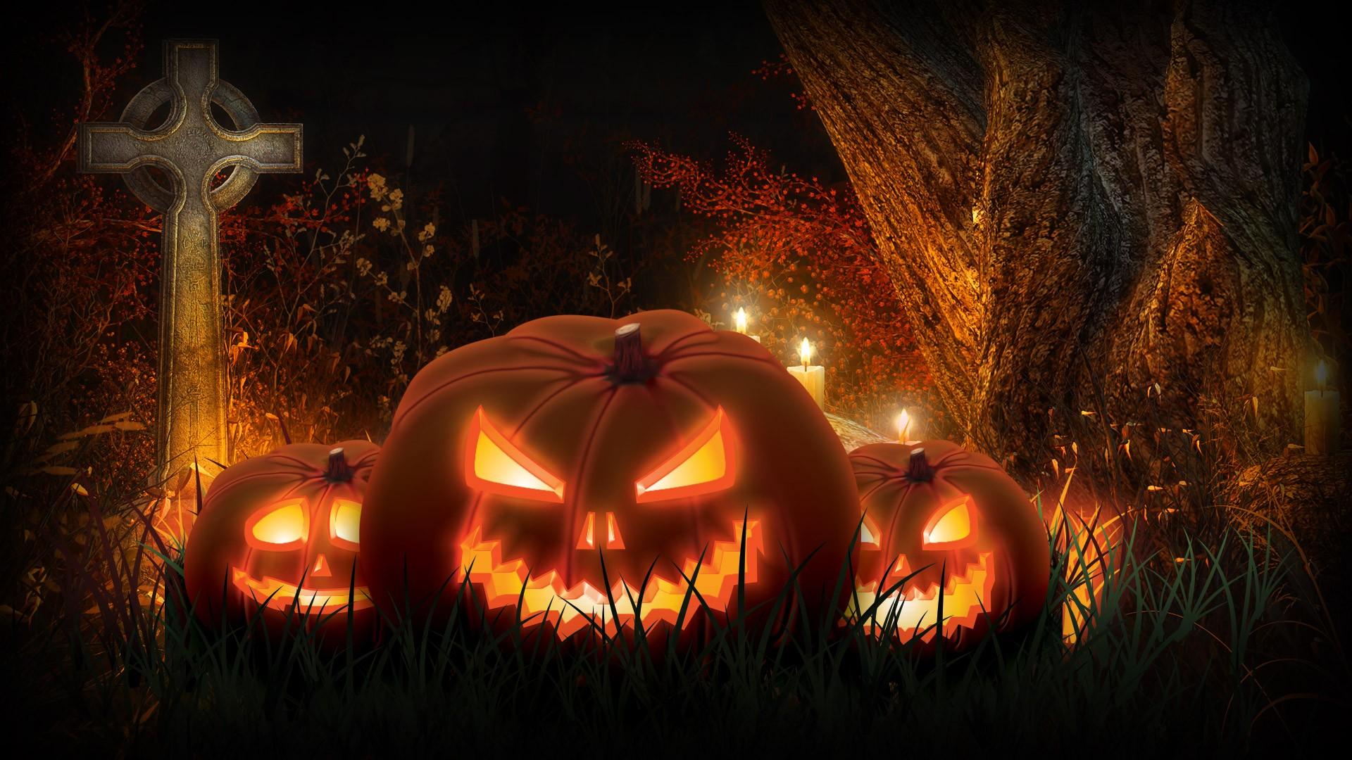 Scary Halloween HD Wallpaper - WallpaperSafari
