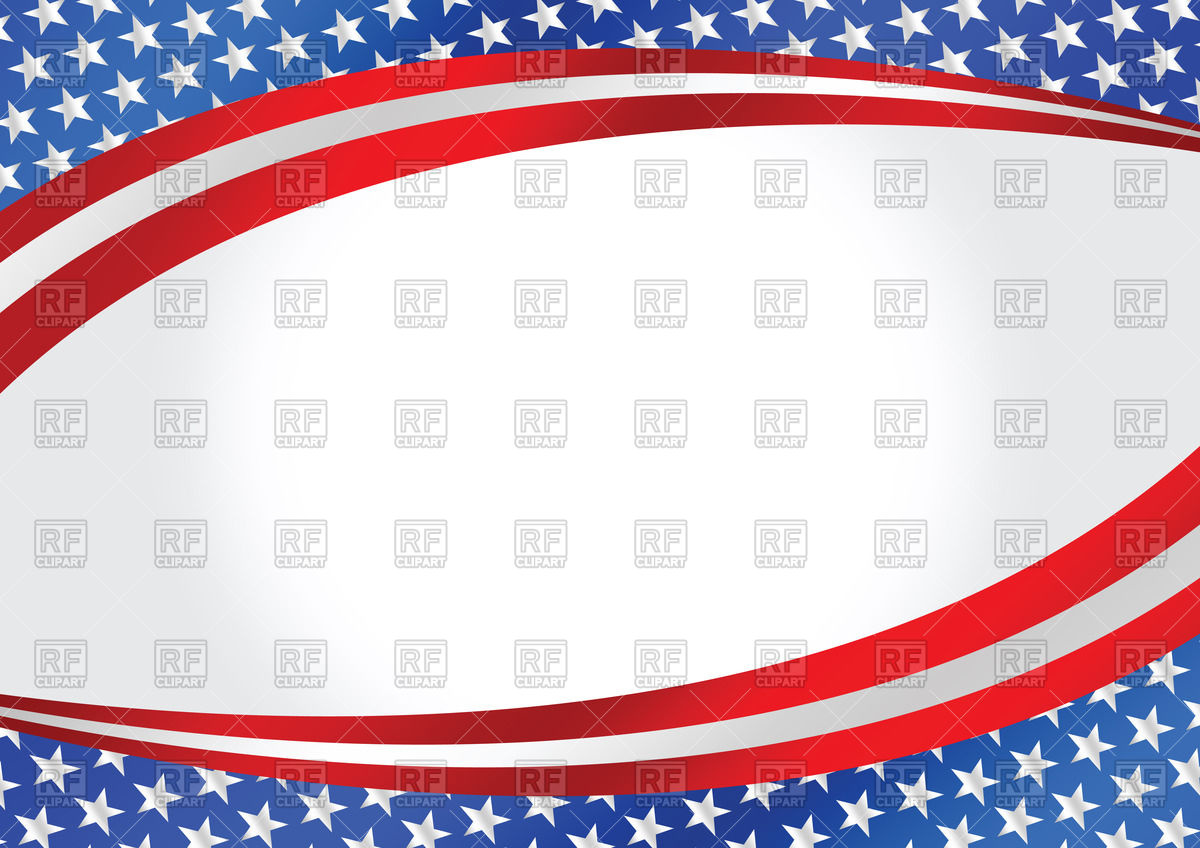 Wavy background with USA flag Vector Image 69333 RFclipart 1200x848