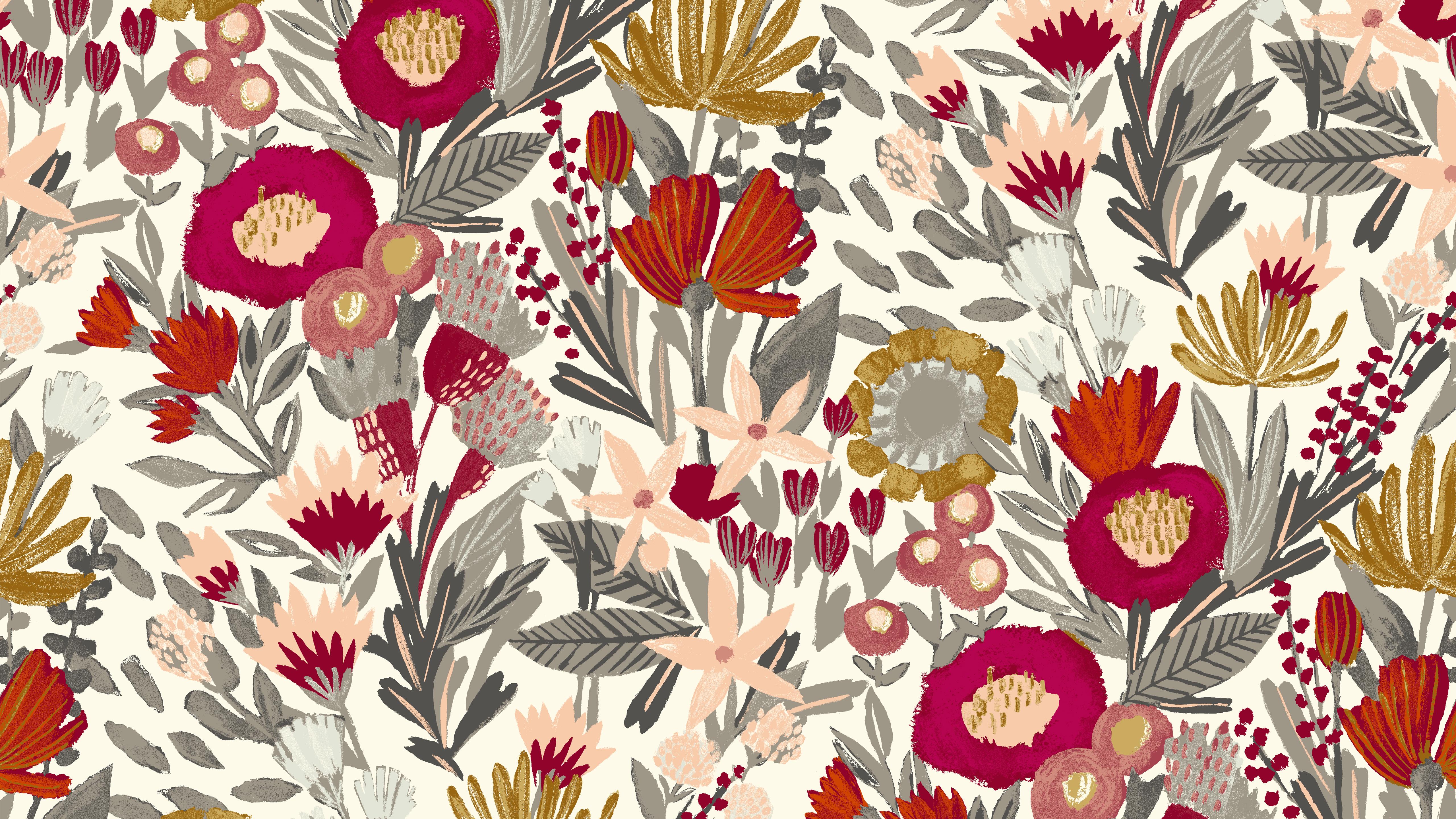 Floral Desktop Wallpaper on WallpaperSafari