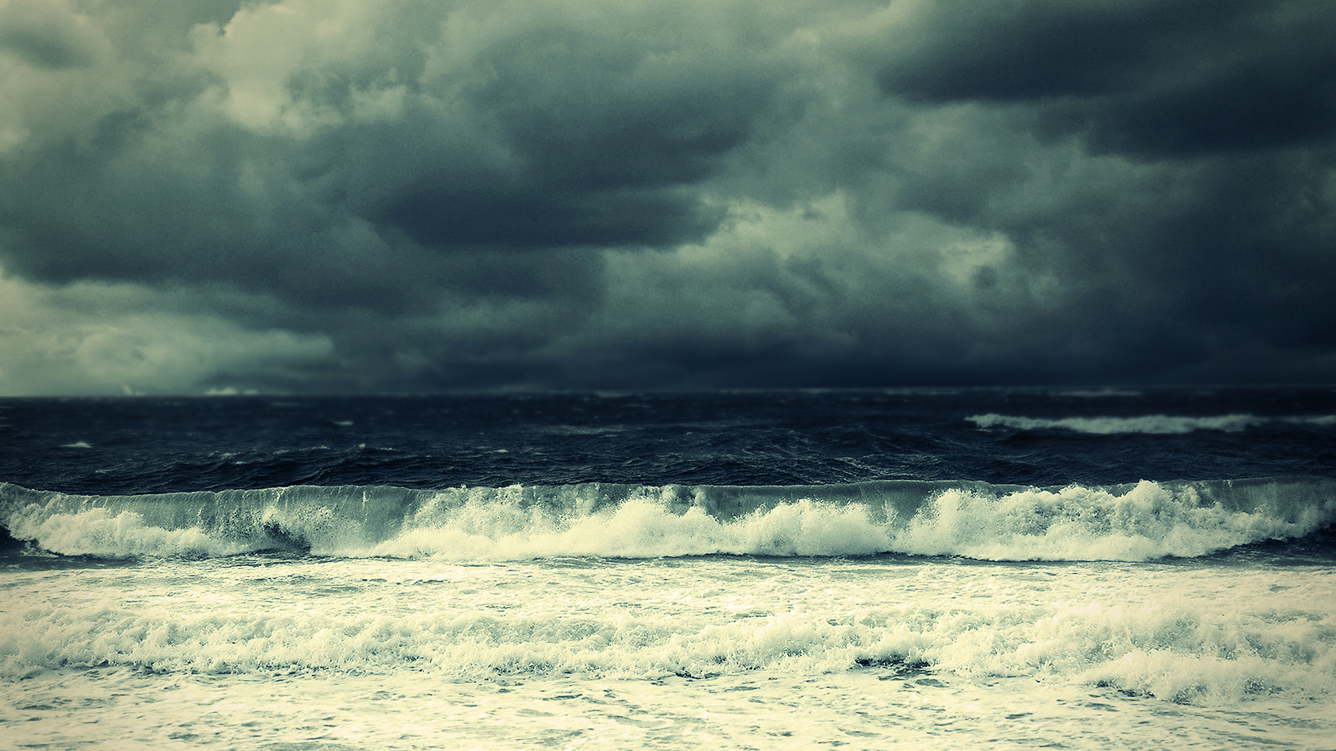 Download Stormy Ocean Wallpaper 1920x1080 | Wallpoper #251090