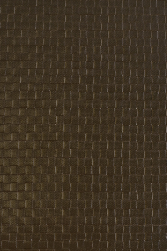 Granada Weave Faux Leather Vinyl Wallcovering Dark Brown faux leather 534x801