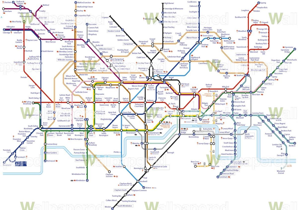 London underground wallpaper wallpapersafari underground tube map wallpaper mural tube map wall mural sciox Images