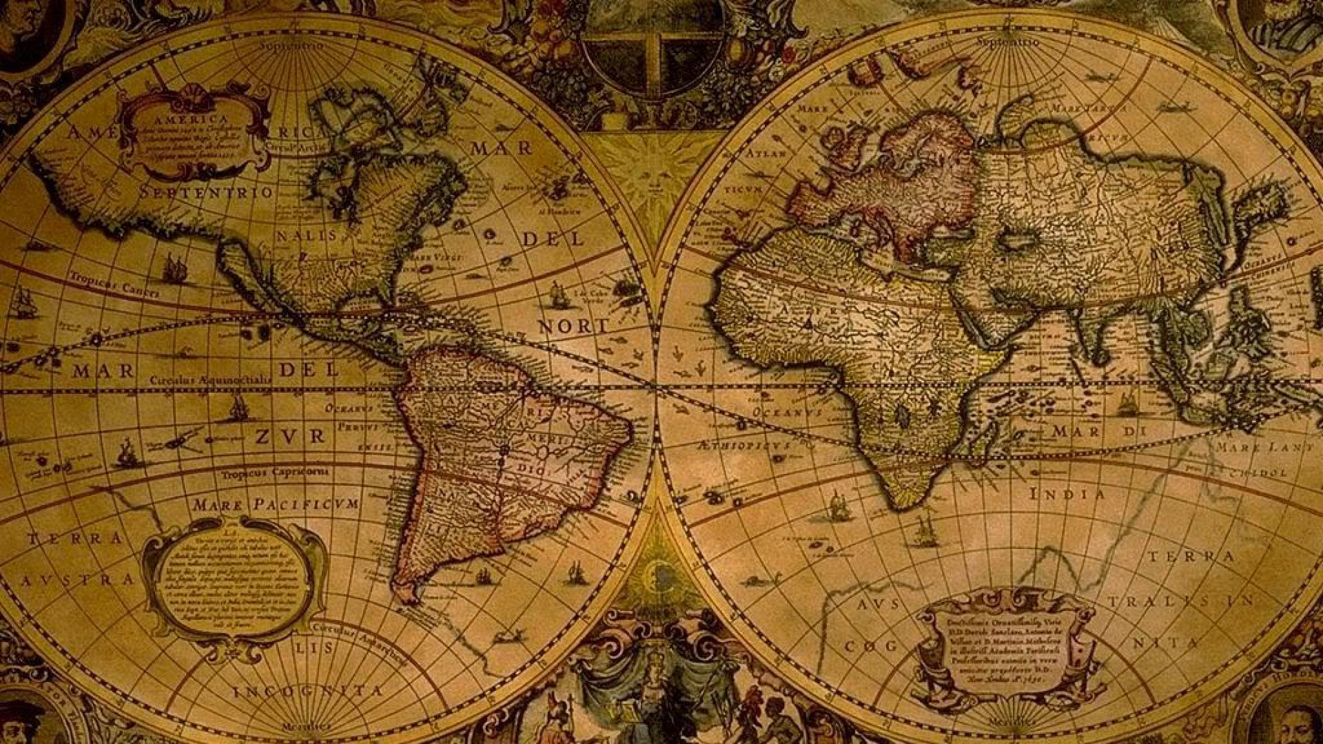 Download vintage map wallpaper HD [1920x1080]   71+ Vintage Map ...